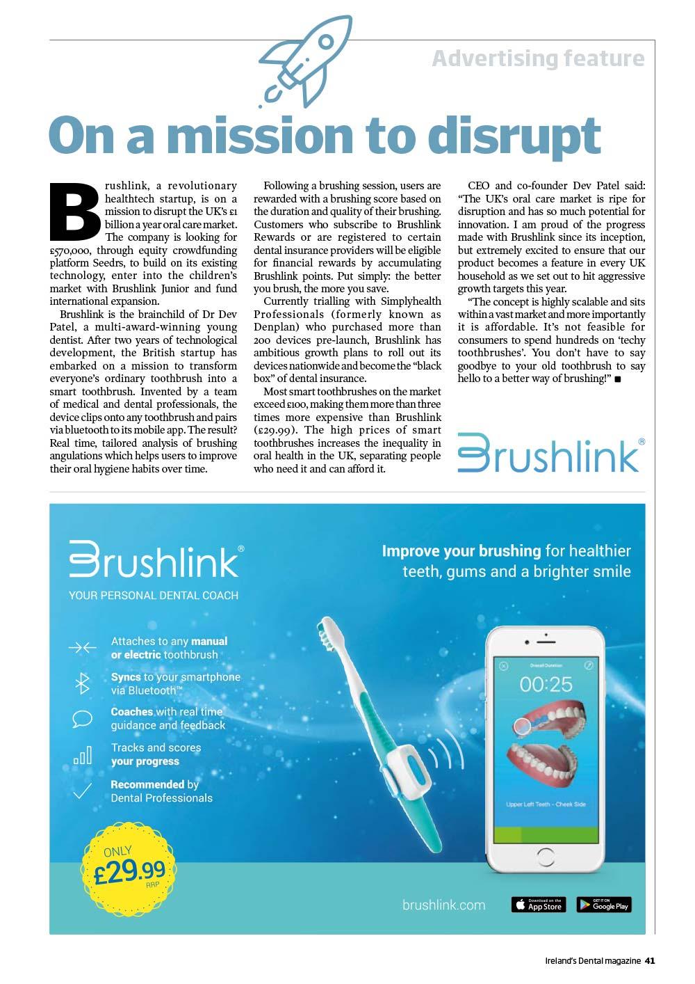 Ireland Dental Magazine Oct Nov 2017 Brushlink